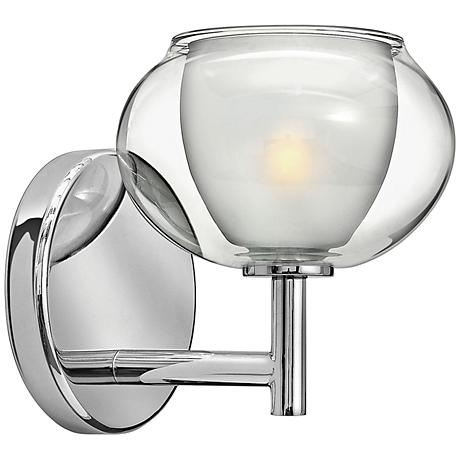 "Hinkley Katia Collection 6 3/4"" High Chrome Wall Sconce"