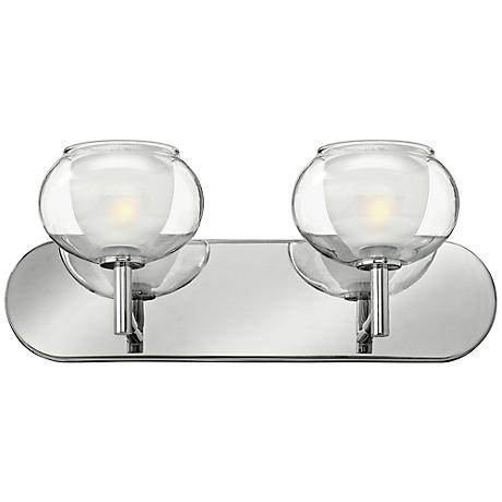 "Hinkley Katia Collection 18"" Wide Chrome Bathroom Light"
