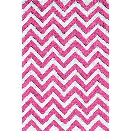 Resort Chevron 25608 Pink Indoor/Outdoor Area Rug