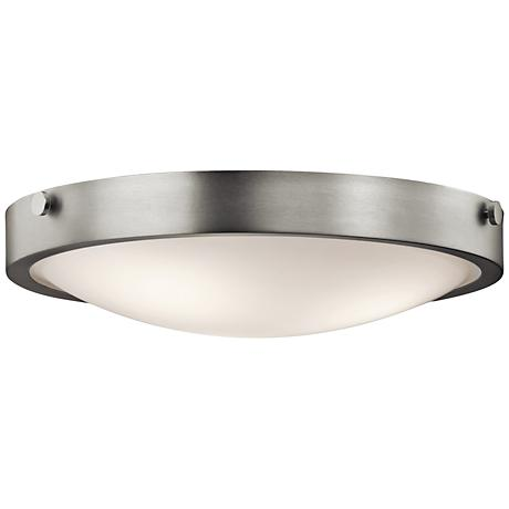 "Kichler Lytham 17 1/2"" Wide Brushed Nickel Ceiling Light"