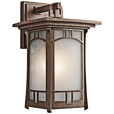 "Kichler Soria 15 1/4"" High Bronze Outdoor Wall Light"