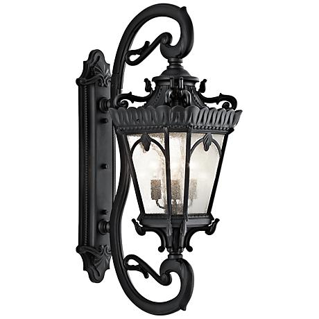 "Kichler Tournai 46"" High Black Outdoor Wall Light"