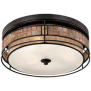 "Quoizel Laguna 16"" Wide Renaissance Copper Ceiling Light"