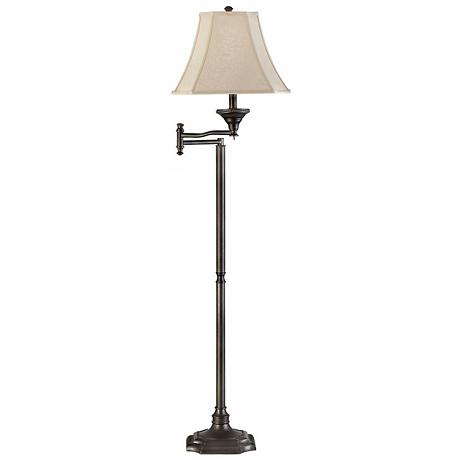 wentworth swing arm bronze finish floor lamp. Black Bedroom Furniture Sets. Home Design Ideas