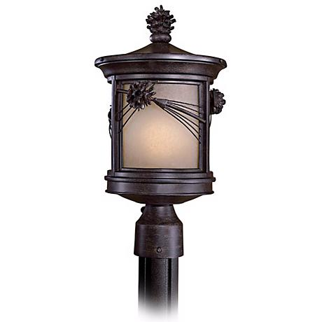 "Abbey Lane 16 1/4"" High Pine Cone Outdoor Post Light"