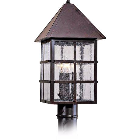 Townsend Collection Solid Brass Outdoor Post Mounted Light