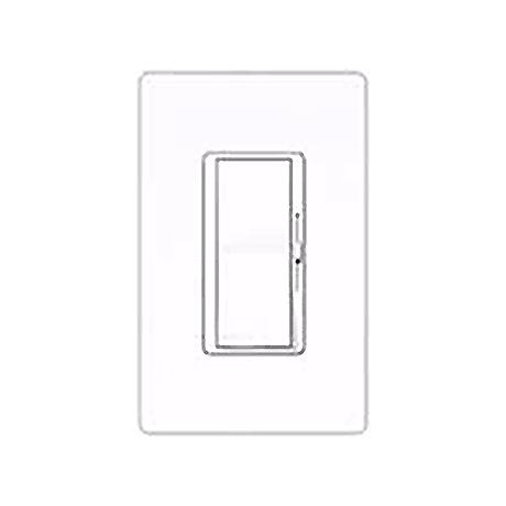 Lutron Diva SC 600W Single Pole Snow White Dimmer