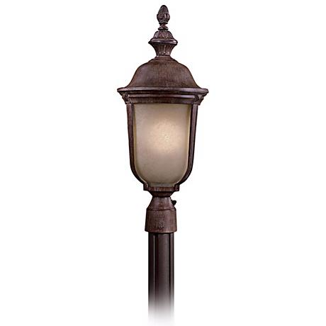 "Ardmore 23 1/4"" High Vintage Rust Outdoor Post Light"