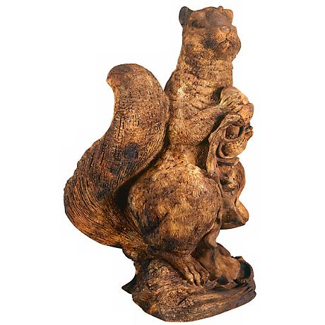 "Henri Studio Tall Standing Squirrel 20"" Wide Garden Accent"