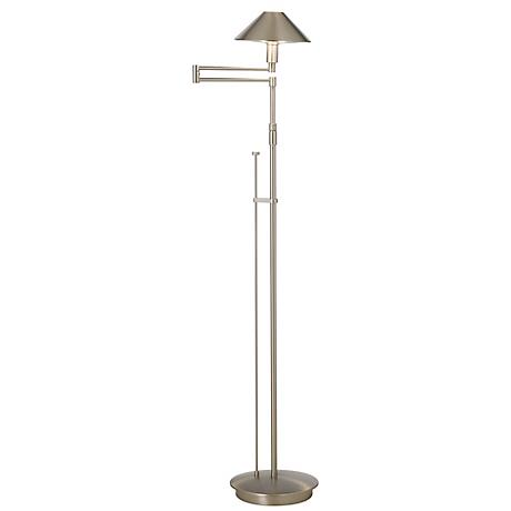 Holtkoetter Satin Nickel Swing Arm Floor Lamp