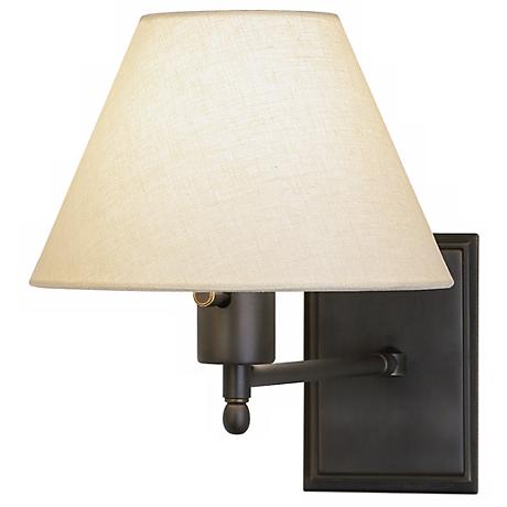meilleur collection bronze plug in swing arm wall lamp 30572 www. Black Bedroom Furniture Sets. Home Design Ideas