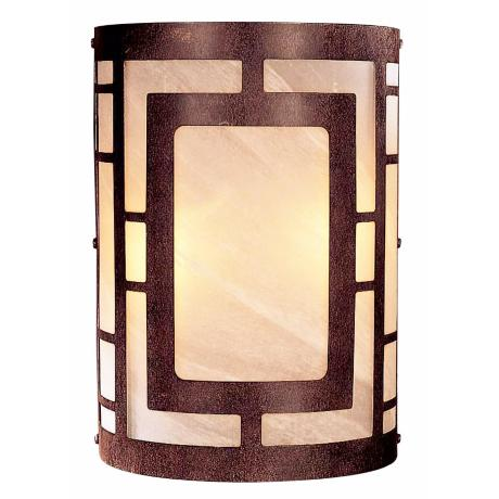 "Nutmeg Finish 11"" High Wall Sconce"
