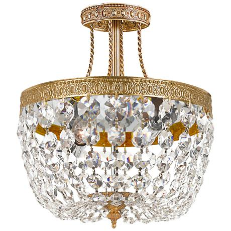"Majestic Collection Crystal 10"" Wide Ceiling Light"