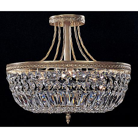 "Majestic Collection Crystal 12"" Wide Ceiling Light Fixture"