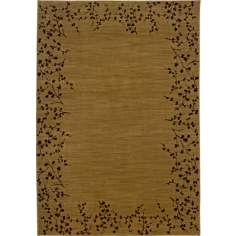 Cherry Blossom Border Gold Area Rug