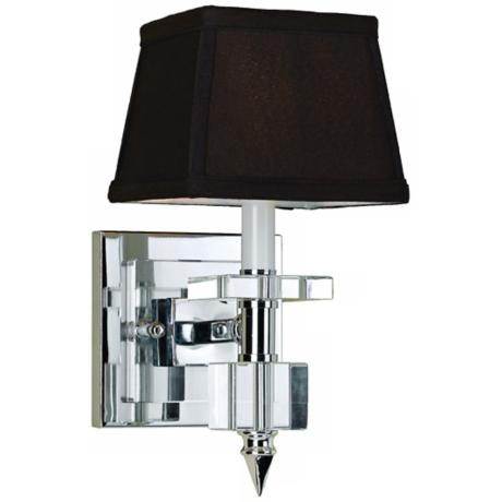 Candice Olson Cluny Chrome Wall Sconce with Chocolate Shade