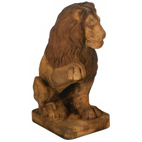 Henri Studios Lion (Right Paw Up) Garden Sculpture