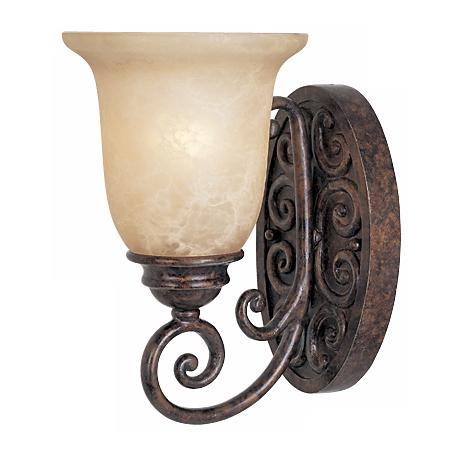 "Amherst Collection Burnt Umber 10 1/4"" High Wall Sconce"
