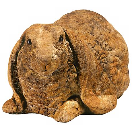"Henri Studio Crouched Rabbit 10"" Wide Garden Accent"