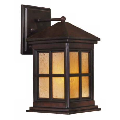 "Berkeley 12 1/4"" High Arts and Crafts Outdoor Wall Light"