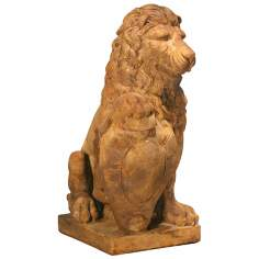 Henri Studios Lion Right Paw on Shield Garden Sculpture