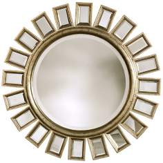 "Uttermost Cyrus Sunburst Round 34"" Wide Wall Mirror"
