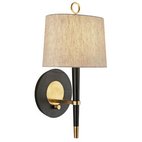 Jonathan Adler Ventana Brass Plug-In Wall Lamp