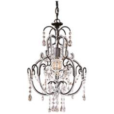"Taylor Bronze 12 1/2"" Wide 3-Light Mini Chandelier"