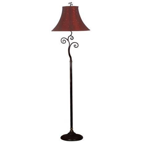 Richardson Red and Gold Shade Floor Lamp