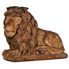 Henri Studios Grand Lion Facing Left Garden Sculpture
