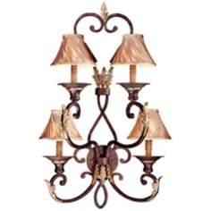 "Metropolitan Zaragoza 35"" High 4-Light Wall Sconce"