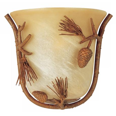 "Pine Grove Collection Pinetree 10 1/2"" Wall Sconce"
