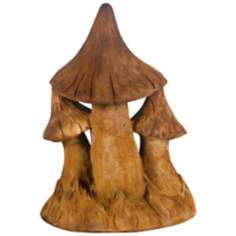 Henri Studio Triple Mushroom Small Garden Sculpture