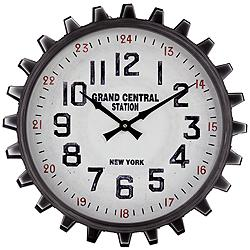 "Industrial Gear 23 1/2"" Round Metal Wall Clock"