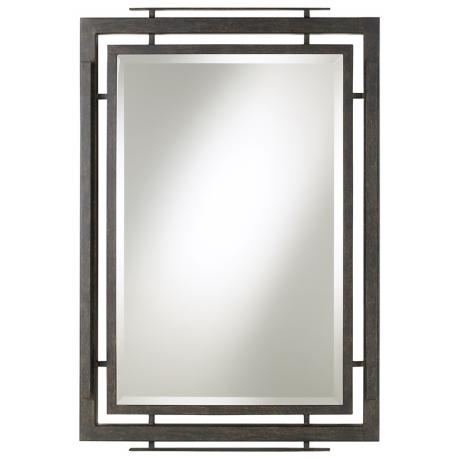 "Minka Lineage Collection Wrought Iron 41"" High Wall Mirror"