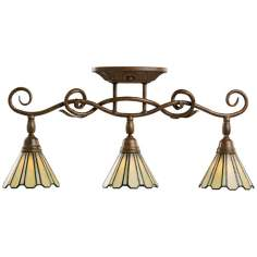 Kichler Tiffany Glass Halogen Swivel Ceiling Fixture