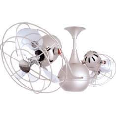 "42"" Vent Bettina Brushed Nickel Finish Ceiling Fan"