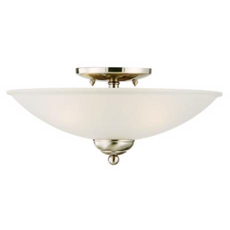 "San Dimas Collection Brushed Steel 14"" Wide Ceiling Light"