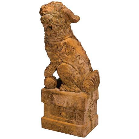 Large Left Facing Foo Dog Garden Accent