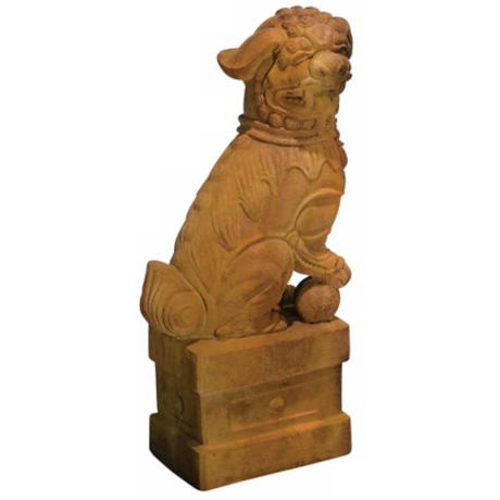Henri Studio Right-Facing Foo Dog Statue Garden Accent