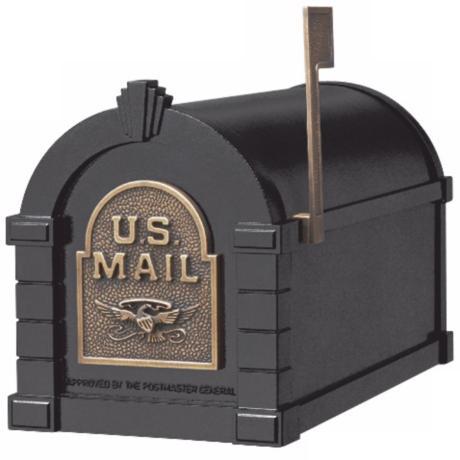 Black and Antique Bronze Keystone Mailbox