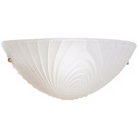 "Kichler White Art Glass 5"" High Wall Sconce"