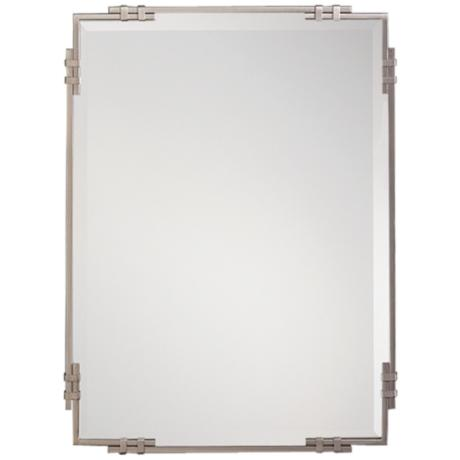 "Kichler Silverton Brushed Nickel 33"" High Wall Mirror"