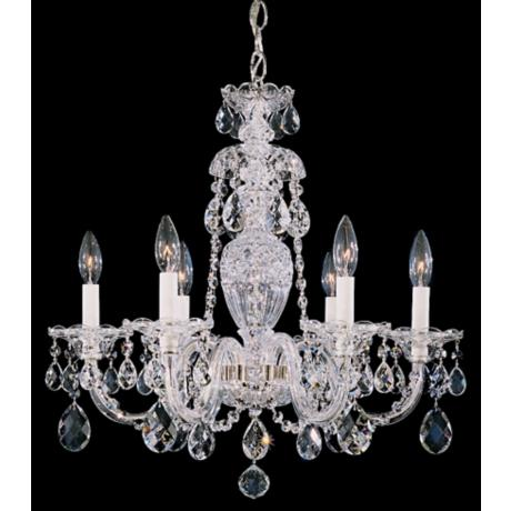 "Schonbek Sterling Collection 21"" Wide Crystal Chandelier"