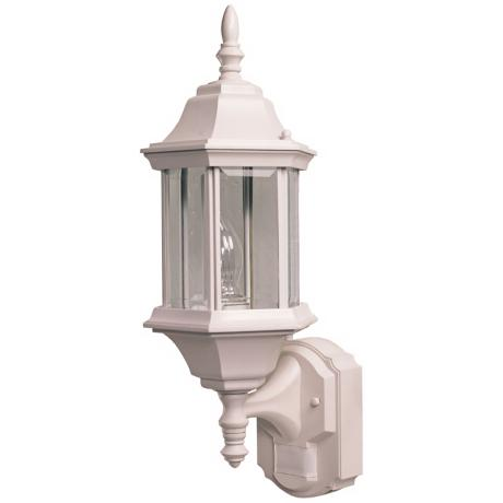 Pleasant Hill White Motion Sensor Outdoor Wall Light