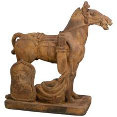 Ancient Cavalry Horse Garden Accent