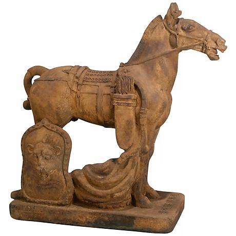 "Henri Studio Ancient Cavalry Horse 29 1/2""H Garden Accent"