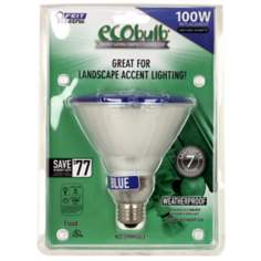 PAR38 23 Watt Blue Outdoor Flood CFL Light Bulb