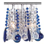 Clear and Blue Crystal Chandelier Droplets