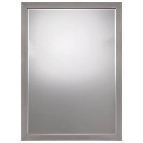 "Paradox  Brushed Nickel Finish 33"" High Wall Mirror"